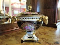 The Royal Crown Derby Porcelain Co 19th Century Derby Porcelain Lidded Centerpiece - 1710654