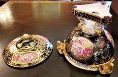 The Royal Crown Derby Porcelain Co 19th Century Derby Porcelain Lidded Centerpiece - 1710659