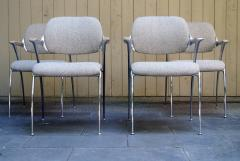 Thonet Four Aluminum and Chrome Thonet Armchairs from the Bonanza Casino circa 1970 - 570476