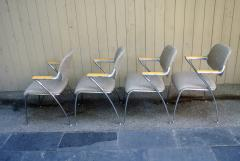 Thonet Four Aluminum and Chrome Thonet Armchairs from the Bonanza Casino circa 1970 - 570478