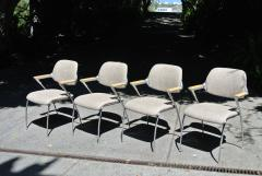 Thonet Four Aluminum and Chrome Thonet Armchairs from the Bonanza Casino circa 1970 - 570480