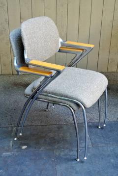 Thonet Four Aluminum and Chrome Thonet Armchairs from the Bonanza Casino circa 1970 - 570483