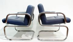 Thonet Pair of Cantilever leather Lounge Chairs Manufactured by Thonet in 1980 - 1933368