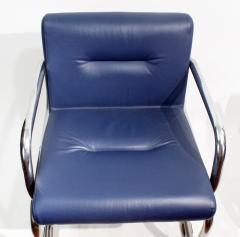 Thonet Pair of Cantilever leather Lounge Chairs Manufactured by Thonet in 1980 - 1933369