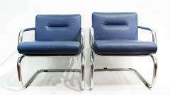 Thonet Pair of Cantilever leather Lounge Chairs Manufactured by Thonet in 1980 - 1933370