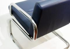 Thonet Pair of Cantilever leather Lounge Chairs Manufactured by Thonet in 1980 - 1933371