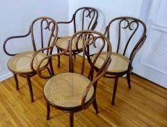 Thonet Set of Four Thonet ZPM Radomsko Bentwood Chairs - 1684644