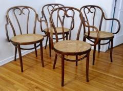 Thonet Set of Four Thonet ZPM Radomsko Bentwood Chairs - 1684645