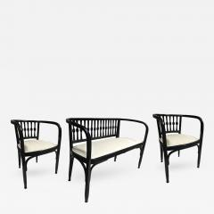 Thonet Thonet Austrian Secession Set of One Couch and Two Chairs in Bentwood - 376425