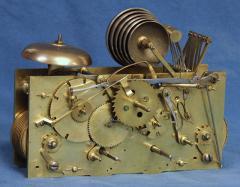 Thwaites c 1800 French Quarter Chiming Marble Ormolu and Ebonized Skeleton Clock - 1184090