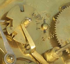 Thwaites c 1800 French Quarter Chiming Marble Ormolu and Ebonized Skeleton Clock - 1184091