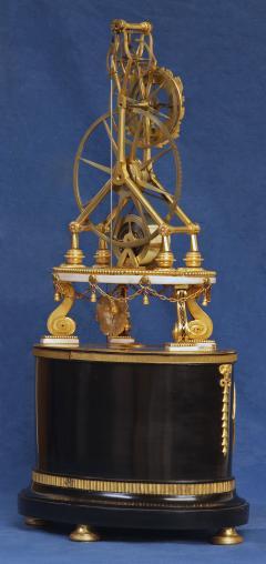 Thwaites c 1800 French Quarter Chiming Marble Ormolu and Ebonized Skeleton Clock - 1184093