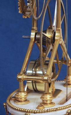 Thwaites c 1800 French Quarter Chiming Marble Ormolu and Ebonized Skeleton Clock - 1184094