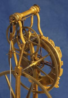Thwaites c 1800 French Quarter Chiming Marble Ormolu and Ebonized Skeleton Clock - 1184095