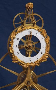 Thwaites c 1800 French Quarter Chiming Marble Ormolu and Ebonized Skeleton Clock - 1184097