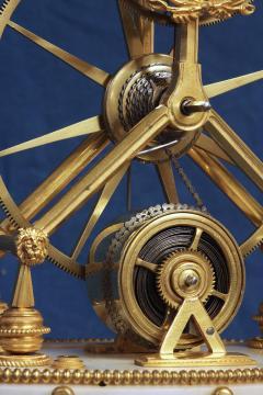 Thwaites c 1800 French Quarter Chiming Marble Ormolu and Ebonized Skeleton Clock - 1184098