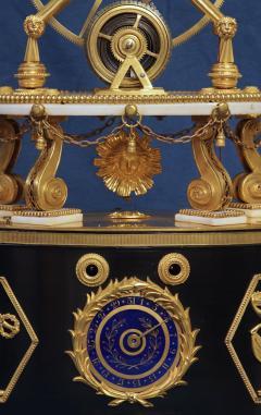 Thwaites c 1800 French Quarter Chiming Marble Ormolu and Ebonized Skeleton Clock - 1184099
