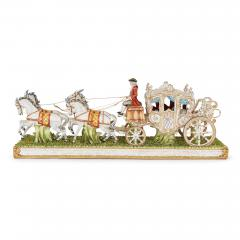 Tiche Italian Tiche porcelain horse and carriage group - 2003870