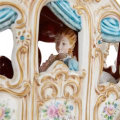 Tiche Italian Tiche porcelain horse and carriage group - 2003871