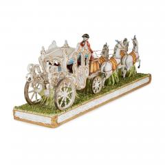Tiche Italian Tiche porcelain horse and carriage group - 2003886