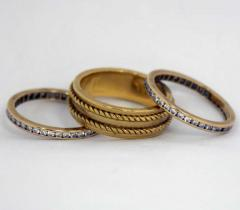 Tiffany Co A Trio of Tiffany Diamond Gold Bands - 80068