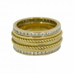 Tiffany Co A Trio of Tiffany Diamond Gold Bands - 80072