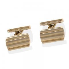 Tiffany Co Mid Century Gold Cuff Links - 120352
