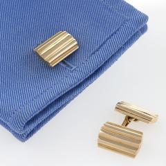 Tiffany Co Mid Century Gold Cuff Links - 120353