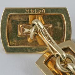 Tiffany Co Mid Century Gold Cuff Links - 120354