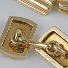 Tiffany Co Mid Century Gold Cuff Links - 120355