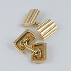 Tiffany Co Mid Century Gold Cuff Links - 120356