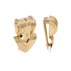 Tiffany Co Pair of Retro Tiffany Co Gold Clip Brooches of Geometric Design - 1790707