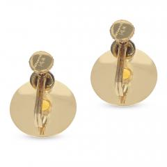 Tiffany Co RETRO TIFFANY CO 6MM CITRINE EARRINGS 14K YELLOW GOLD - 1954922