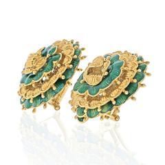 Tiffany Co TIFFANY 18K YELLOW GOLD VINTAGE FLOWER EARRINGS - 2029637