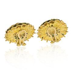 Tiffany Co TIFFANY 18K YELLOW GOLD VINTAGE FLOWER EARRINGS - 2029638