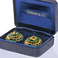Tiffany Co TIFFANY 18K YELLOW GOLD VINTAGE FLOWER EARRINGS - 2029639