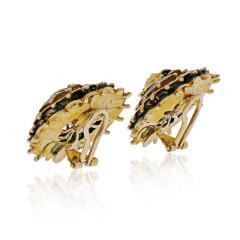 Tiffany Co TIFFANY 18K YELLOW GOLD VINTAGE FLOWER EARRINGS - 2029640