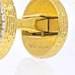Tiffany Co TIFFANY CO 14K YELLOW GOLD DIAMOND CIRCLE CUFF LINKS - 2029575
