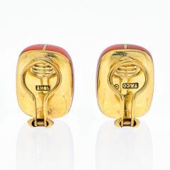 Tiffany Co TIFFANY CO 18K YELLOW GOLD ANGELA CUMMINGS JASPER EARRINGS - 1941085