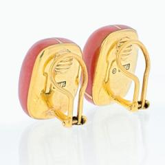 Tiffany Co TIFFANY CO 18K YELLOW GOLD ANGELA CUMMINGS JASPER EARRINGS - 1941086
