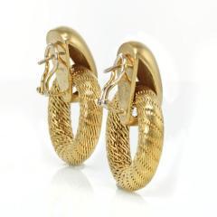 Tiffany Co TIFFANY CO 18K YELLOW GOLD DOOR KNOCKER VINTAGE EARRINGS - 1721008