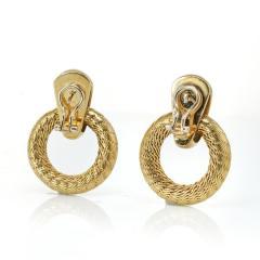 Tiffany Co TIFFANY CO 18K YELLOW GOLD DOOR KNOCKER VINTAGE EARRINGS - 1721009
