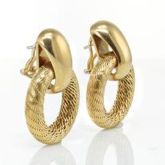 Tiffany Co TIFFANY CO 18K YELLOW GOLD DOOR KNOCKER VINTAGE EARRINGS - 1721010