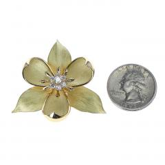 Tiffany Co TIFFANY CO FLORAL DIAMOND BROOCH 18 KARAT YELLOW GOLD - 1964946