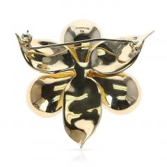 Tiffany Co TIFFANY CO FLORAL DIAMOND BROOCH 18 KARAT YELLOW GOLD - 1964947