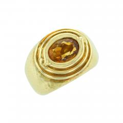 Tiffany Co TIFFANY CO JEAN SCHLUMBERGER OVAL CITRINE 18K YELLOW GOLD RING - 1940422