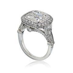 Tiffany Co TIFFANY CO LEGACY 5 CARAT CUSHION CUT DIAMOND E VS2 T CO CERTIFICATED RING - 1797266