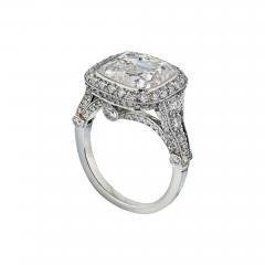 Tiffany Co TIFFANY CO LEGACY 5 CARAT CUSHION CUT DIAMOND E VS2 T CO CERTIFICATED RING - 1798627