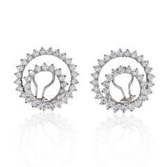 Tiffany Co TIFFANY CO PLATINUM DIAMOND SWIRLS EARRINGS - 1797226
