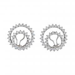 Tiffany Co TIFFANY CO PLATINUM DIAMOND SWIRLS EARRINGS - 1798615